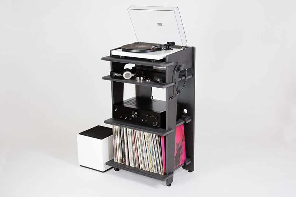 Line Phono Turntable Station Turntable Stand, Vinyl Record Storage