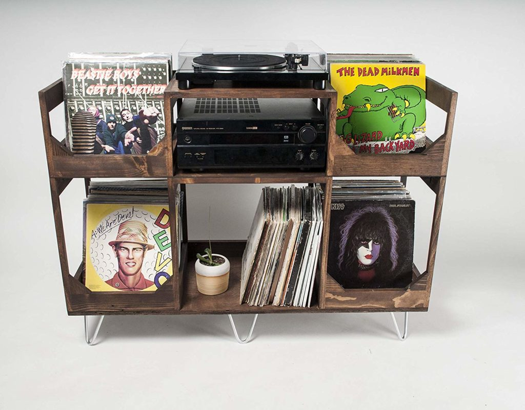 Deluxe Vinyl Display Turn Table Station
