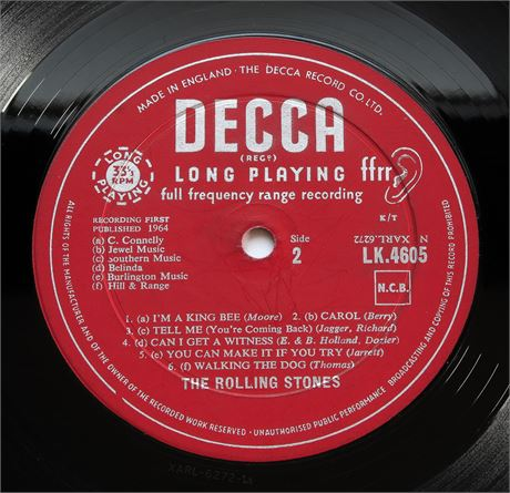The Rolling Stones - 1st Press/ 1A Matrixes