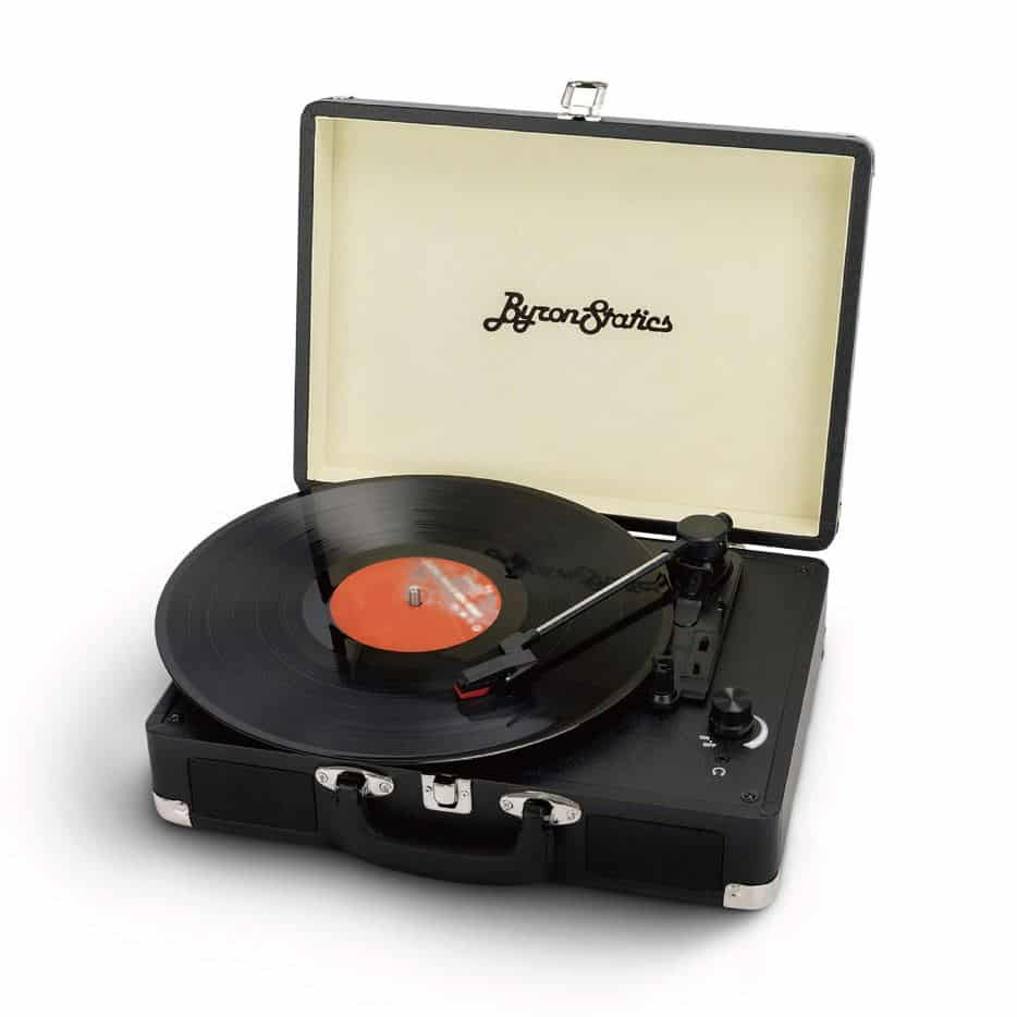 Byron Statics Turntable Vintage Record Player