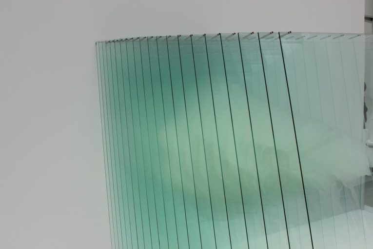 two glass panels