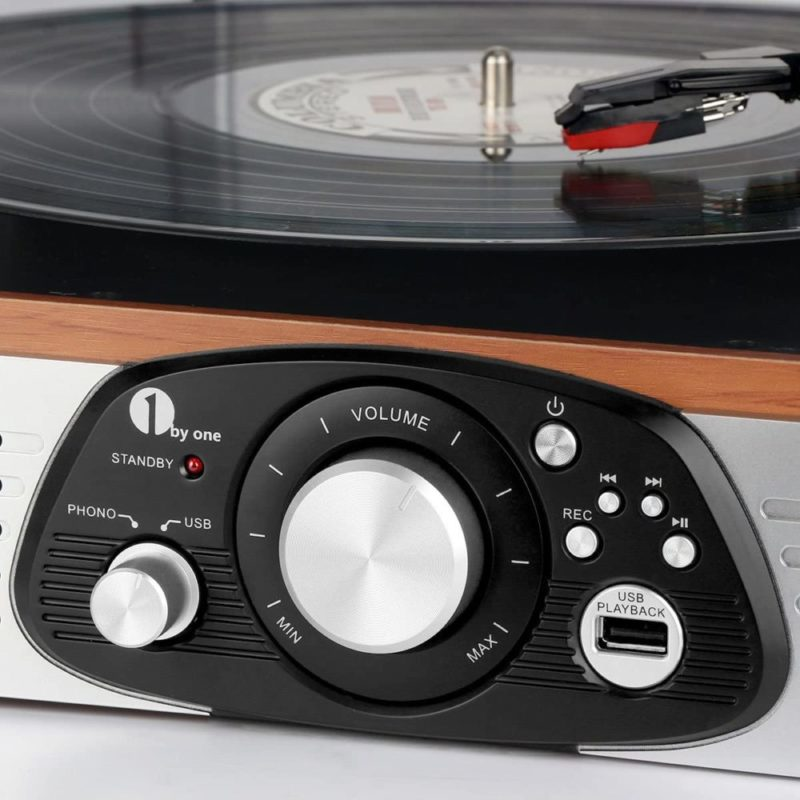1byone Turntable 471NA-0003 Bluetooth And USB connection