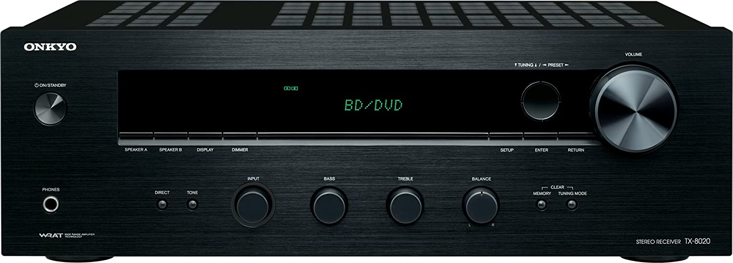 Onkyo TX-8020 2 channel Stereo Receiver – best for home theater setup